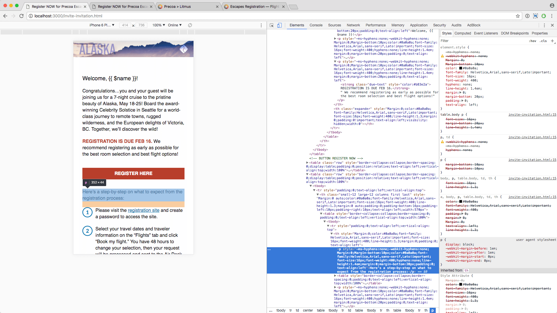 Chrome Inspector View